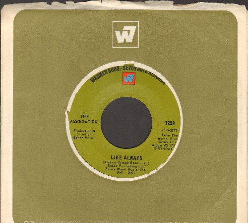 Association - Like Always/Six Man Band (with vintage Warner Brothers company sleeve) - EX8/ - 45 rpm Records