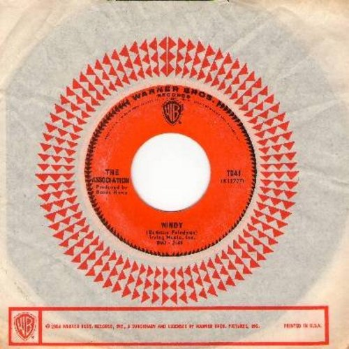Association - Windy (featured in episode of Cult TV Series -Breaking Bad-)/Sometime (with Warner Brothers company sleeve) - NM9/ - 45 rpm Records