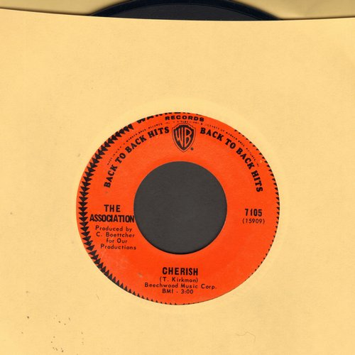 Association - Cherish/Along Came Jones (double-hit re-issue) - EX8/ - 45 rpm Records