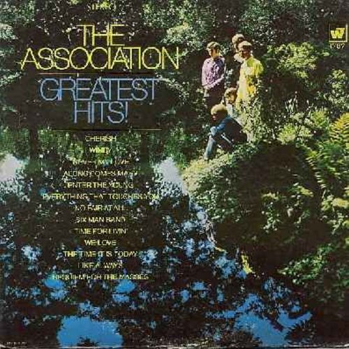 Association - Greatest Hits: Windy, Cherish, Never My Love, Along Comes Mary (vinyl STEREO LP record, dark green label first issue, NICE condition!) - EX8/EX8 - LP Records