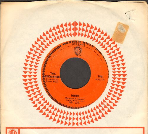Association - Windy/Sometime (with vintage Warner Brothers company sleeve) - NM9/ - 45 rpm Records