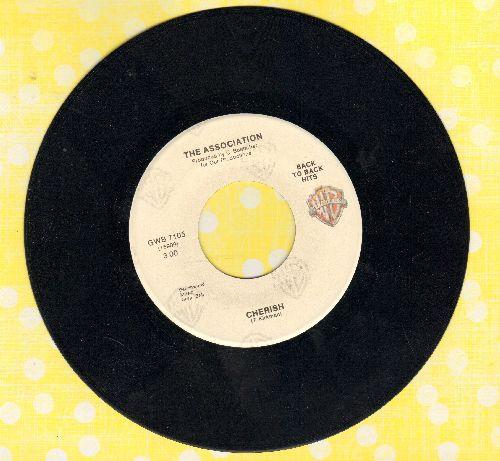 Association - Cherish/Along Came Jones (MINT condition white label double-hit re-issue) - M10/ - 45 rpm Records