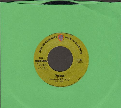 Association - Cherish/Along Came Jones (green label early double-hit re-issue) - NM9/ - 45 rpm Records