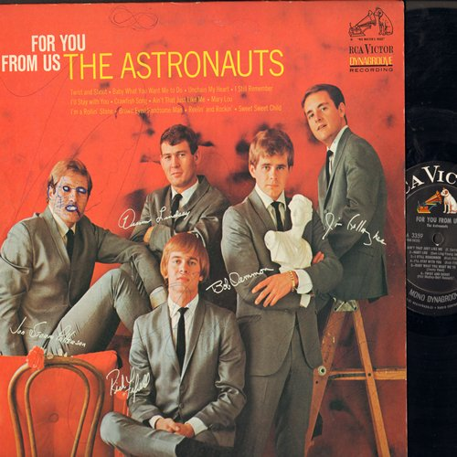 Astronauts - For You From Us: Mary Lou, Twist And Shout, Brown Eyed Handsome Man (vinyl MONO LP record, woc) - NM9/VG7 - LP Records