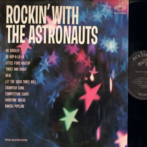 Astronauts - Rockin' With The Astronauts: Bo Diddley, Be-Bop-A-Lu-La, Twist And Shout, Shortnin' Bread (vinyl MONO LP record, tape on cover) - NM9/G5 - LP Records