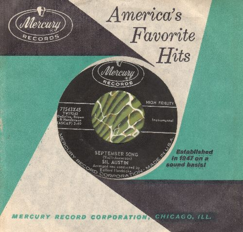 Austin, Sil - September Song/Gone Again (with vintage Mercury company sleeve) - EX8/ - 45 rpm Records