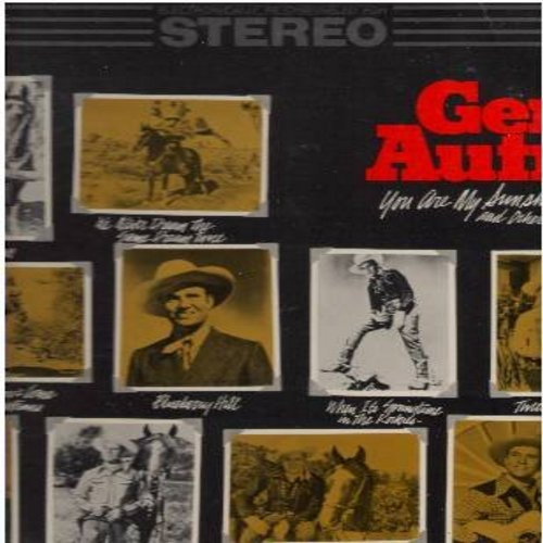 Autry, Gene - Gene Autry Sings: You Are My Sunshine, Blueberry Hill, When It's Springtime In The Rockies, Twilight On The Trail (vinyl LP record, re-channeled for STEREO, re-issue of vintage recordings) - M10/EX8 - LP Records