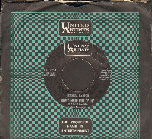 Avalon, Frankie - Don't Make Fun Of Me/Again (with United Artists company sleeve) - NM9/ - 45 rpm Records