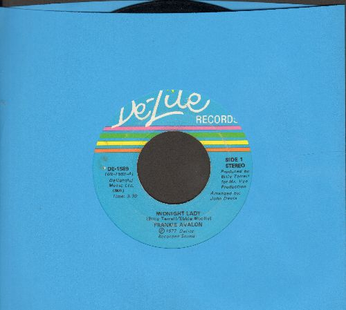Avalon, Frankie - Midnight Lady/Does She Wonder Where I Am - EX8/ - 45 rpm Records