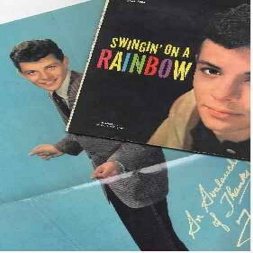 Avalon, Frankie - Swingin' On A Rainbow: Secret Love, Sandy, Them There Eyes, Try A Little Tenderness (vinyl LP record - with illustrated picture album and full-color BONUS POSTER!) - NM9/EX8 - LP Records