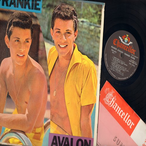Avalon, Frankie - Summer Scene: If I Had You, Did You Ever See A Dream Walking?, It's Only A Paper Moon, Over The Rainbow, For Sentimental Reasons (vinyl MONO LP record) - EX8/VG7 - LP Records