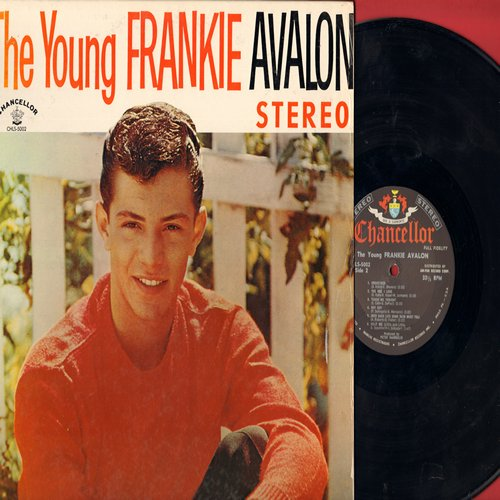 Avalon, Frankie - The Young Frankie Avalon: Undecided, Fever, Teach Me Tonight, Too Young To Love, The One I Love, Shy Guy (vinyl LP record, RARE STEREO Pressing!) - NM9/EX8 - LP Records