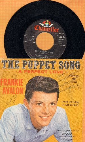 Avalon, Frankie - The Puppet Song/A Perfect Love (with picture sleeve, wos) - EX8/VG6 - 45 rpm Records