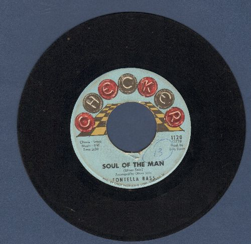 Bass, Fontella - Rescue Me/Soul Of The Man (light blue label, heavy wol) - VG7/ - 45 rpm Records