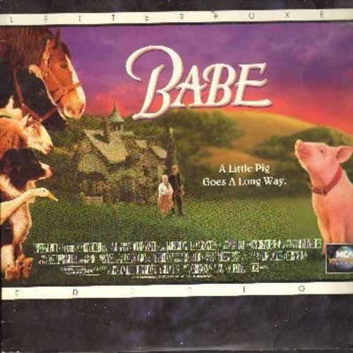 Babe - Babe - The Magical 1995 Classic starring the world's most lovable pig! - THIS IS A LASER DISC, NOT ANY OTHER KIND OF MEDIA! - NM9/EX8 - Laser Discs