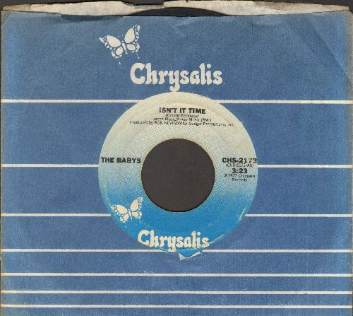 Babys - Isn't It Time/Give Me Your Love (with Chrysalis company sleeve) - VG7/ - 45 rpm Records