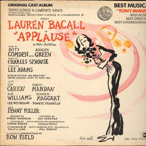 Bacall, Lauren - Applause - Original Cast Album, Tony Award Winner Best Actress (Lauren Bacall), Best Direction, Best Choreography (vinyl STEREO LP record, gate-fold cover) - M10/EX8 - LP Records