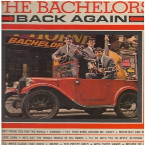 Bachelors - Back Again: He's Got The Whole World In His Hands/Melody Of Love/The Little White Cloud That Cried/Put Your Arms Around Me/Maybe/Moonlight And Roses (7 inch 33rpm mini-LP with small spindle hole, with picture cover) - EX8/VG7 - 45 rpm Records