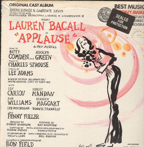 Bacall, Lauren - Applause - Original Cast Album, Tony Award Winner Best Actress (Lauren Bacall), Best Direction, Best Choreography (vinyl STEREO LP record, SEALED, never opened!) - SEALED/SEALED - LP Records