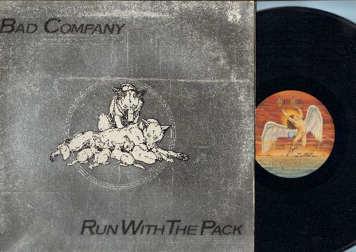 Bad Company - Run With The Pack: Live For The Music, Simple Man, Honey Child, Young Blood, Fade Away (vinyl STEREO LP record, gate-fold cover) - VG7/VG7 - LP Records