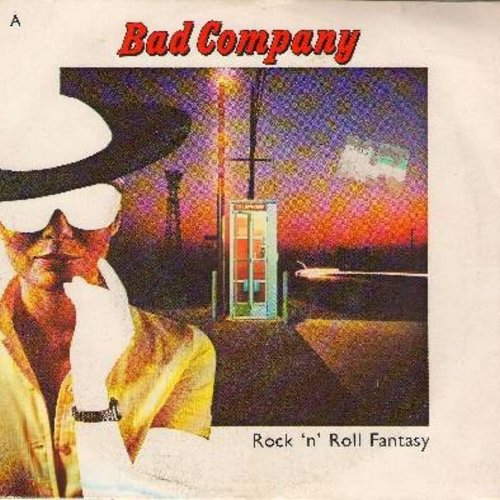Bad Company - Rock 'N' Roll Fantasy/Crazy Circles (with picture cover) - NM9/VG7 - 45 rpm Records