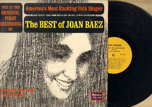 Baez, Joan - The Best Of: Black Is The Colar, On The Banks Of The Ohio, Lowlands, Kitty, John Henry, Sail Away Ladies (vinyl LP record) - EX8/EX8 - 45 rpm Records
