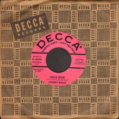 Bailes, Johnny - Ballad Of Honest Abe/Hula Star (DJ advance pressing with vintage Decca company sleeve) - EX8/ - 45 rpm Records