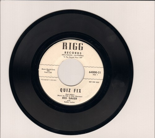 Baker, Red - Quiz Fix (RARE Novelty about the infamous 1950s Quiz Show Cheating Scandal)/Don't Quote Me - M10/ - 45 rpm Records