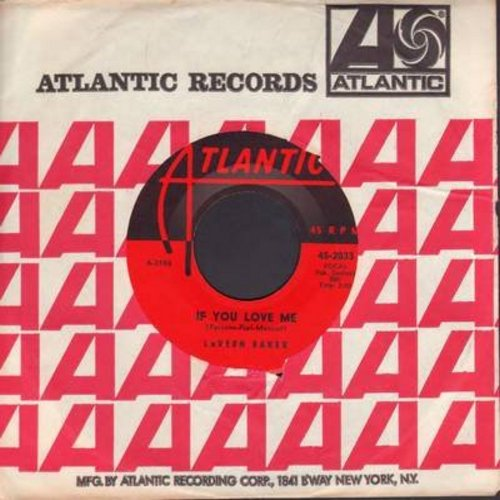 Baker, LaVern - If You Love Me/So High So Low (with Atlantic company sleeve) - EX8/ - 45 rpm Records