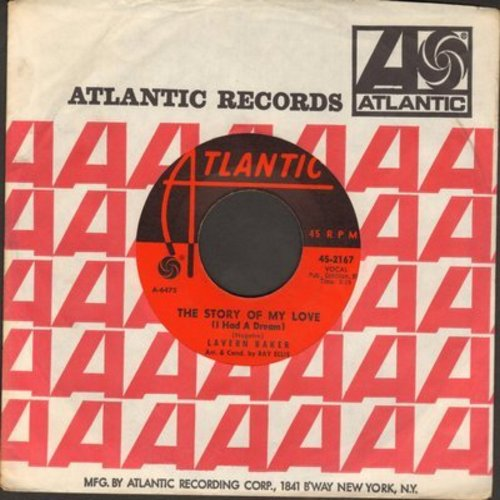 Baker, LaVern - The Story Of My Love (I Had A Dream)/See See Rider (with Atlantic company sleeve) - NM9/ - 45 rpm Records