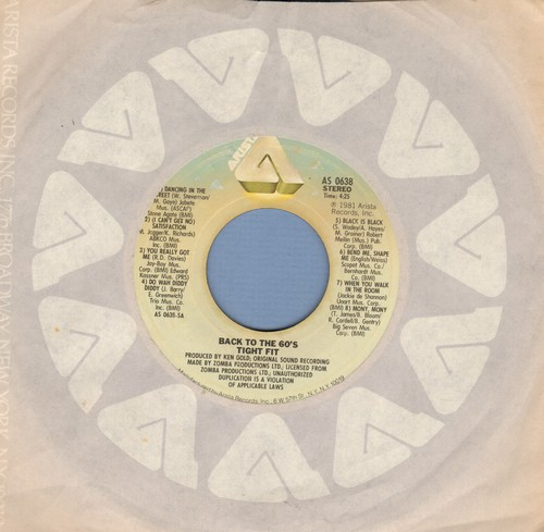 Tight Fit - Back To The 60s/Coco-Nite (with Arista company sleeve) - EX8/ - 45 rpm Records