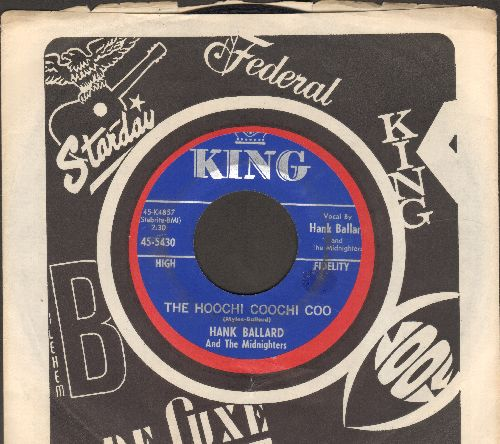 Ballard, Hank & The Midnighters - The Hoochi Coochi Coo/I'm Thinking Of You (with company sleeve) - EX8/ - 45 rpm Records