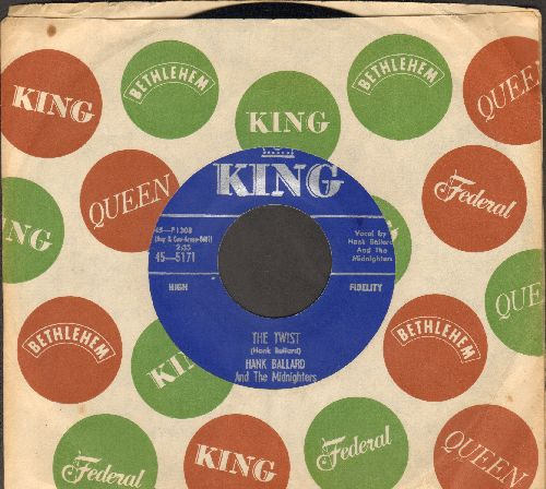 Ballard, Hank & The Midnighters - The Twist/Teardrops On Your Letter (with vintage King company sleeve) - NM9/ - 45 rpm Records