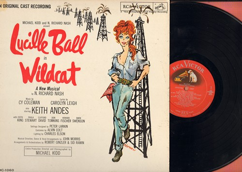 Ball, Lucille - Wildcat - Original Broadway Cast Recording starring America's Supreme Funny Lady, Lucille Ball!  (vinyl LP record, RARE red label/shaded dog pressing!) - NM9/EX9 - LP Records