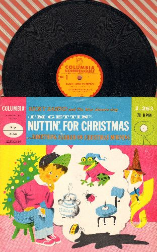 Zahnd, Ricky & The Blue Jeaners - (I'm Getting') Nuttin' For Christmas/Something Barked On Christmas Morning (10 inch 78 rpm record with picture cover) - EX8/EX8 - 78 rpm