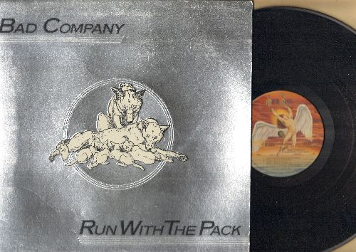 Bad Company - Run With The Pack: Live For The Music, Young Blood, Do Right By Your Woman, Fade Away (vinyl STEREO LP record, gate-fold cover) - EX8/EX8 - LP Records