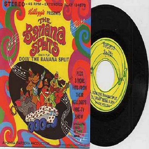 Banana Splits - Doin' The Banana Split/I Enjoy Being A Boy (In Love With You)/The Beautiful Calliopa/Let Me Remember You Smiling (authentic-looking re-issue of 1969 vintage recordings as performed on the TV Show, with picture sleeve and song lyrics on bac