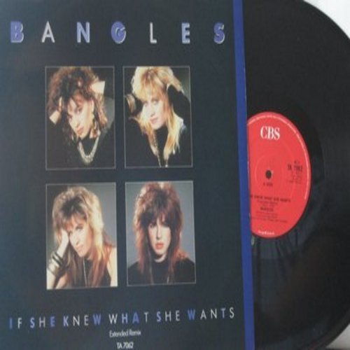 Bangles - If She Knew What She Wants/Manic Monday/Angels Don't Fall In Love (12 inch 45rpm Maxi Single, German Pressing with picture cover) - NM9/NM9 - LP Records