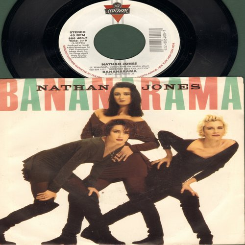 Bananarama - Nathan Jones/Once In A Lifetime (with picture sleeve) - NM9/NM9 - 45 rpm Records