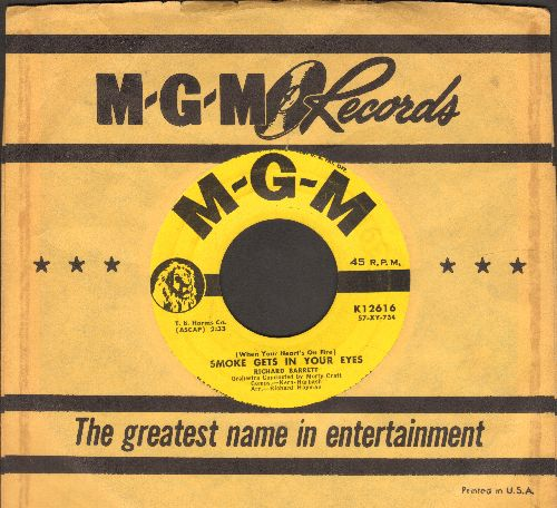 Barrett, Richard - Smoke Gets In Your Eyes/Remember Me (with vintage MGM company sleeve) - NM9/ - 45 rpm Records