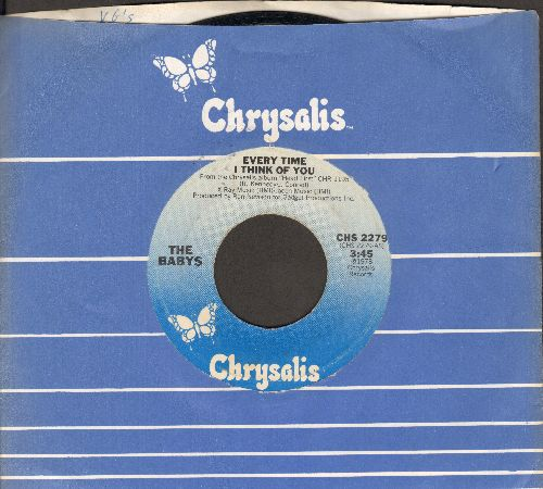 Babys - Every Time I Think Of You/Head First (with Chrysalis company sleeve) - NM9/ - 45 rpm Records