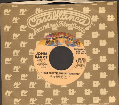 Barry, John - Theme From The Deep (MINT condition double-A-sided DJ advance pressing with Casablanca company sleeve) - M10/ - 45 rpm Records