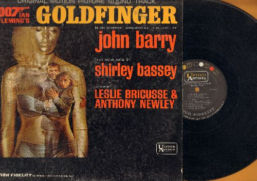 Barry, John, Shirley Bassey - Goldfinger - Original Motion Picture Sound Track featuring title song by Shirley Bassey (vinyl MONO LP record) - EX8/VG6 - LP Records