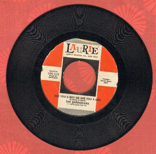 Barbarians - Are You A Boy Or A Girl/A Little Bit O' Soul (by The Music Explosion on flip-side) (Special Pressing double-hitter!) - EX8/ - 45 rpm Records