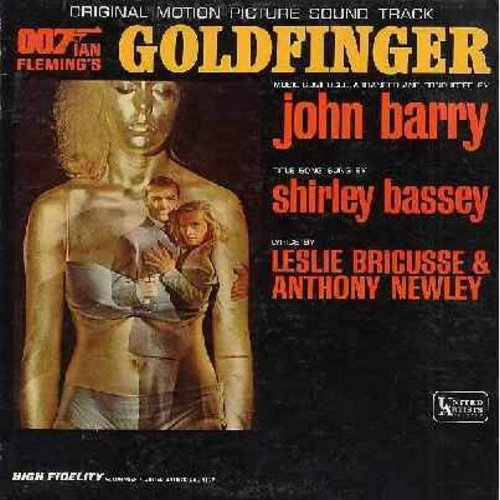 Barry, John, Shirley Bassey - Goldfinger - Original Motion Picture Sound Track featuring James Bond Theme and vocal Title Song by Shirley Bassey (vinyl MONO LP record) - VG7/VG7 - LP Records