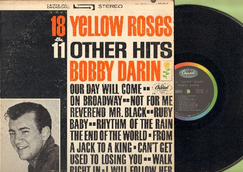 Darin, Bobby - 18 Yellow Roses & 11 Other Hits: Our Day Will Come, Rhythm Of The Rain, Walk Right In, I Will Follow Her (vinyl STEREO LP record) - EX8/VG7 - LP Records