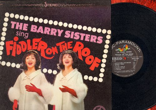 Barry Sisters - Fiddler On The Roof: Matchmaker Matchmaker, Sunrise Sunset, To Life, Do You Love Me, Tradition, Anatevka (vinyl STEREO LP record) - NM9/EX8 - LP Records