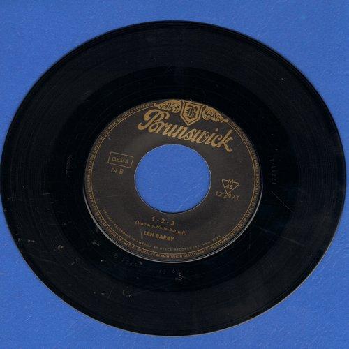 Barry, Len - 1-2-3 (FANTASTIC Motown Sound!)/Bullseye (GERMAN Pressing, sung in English) - EX8/ - 45 rpm Records