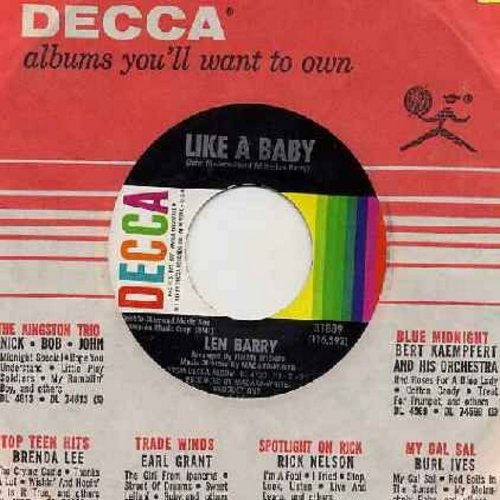Barry, Len - Like A Baby/Happiness (with Decca company sleeve) (bb) - NM9/ - 45 rpm Records