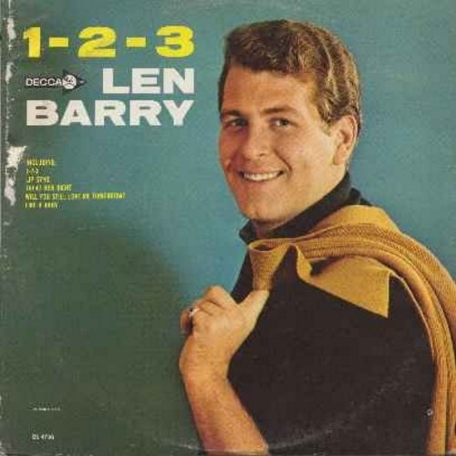 Barry, Len - 1-2-3: Lip Sync, Treat Her Right, Will You Still Love Me Tomorrow, Like A Baby, Don't Throw Your Love Away, You Baby (vinyl MONO LP record) - EX8/EX8 - LP Records